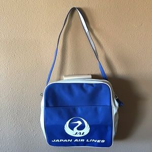 Retro Style Japan Airlines Carryon Nylon Bag
